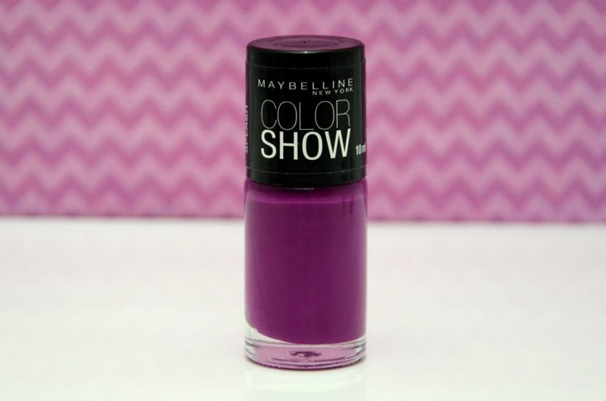 Resenha: Esmalte Color Show Purple Splash da Maybelline